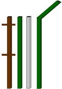 изготовление металлические столбы в Краснослободске